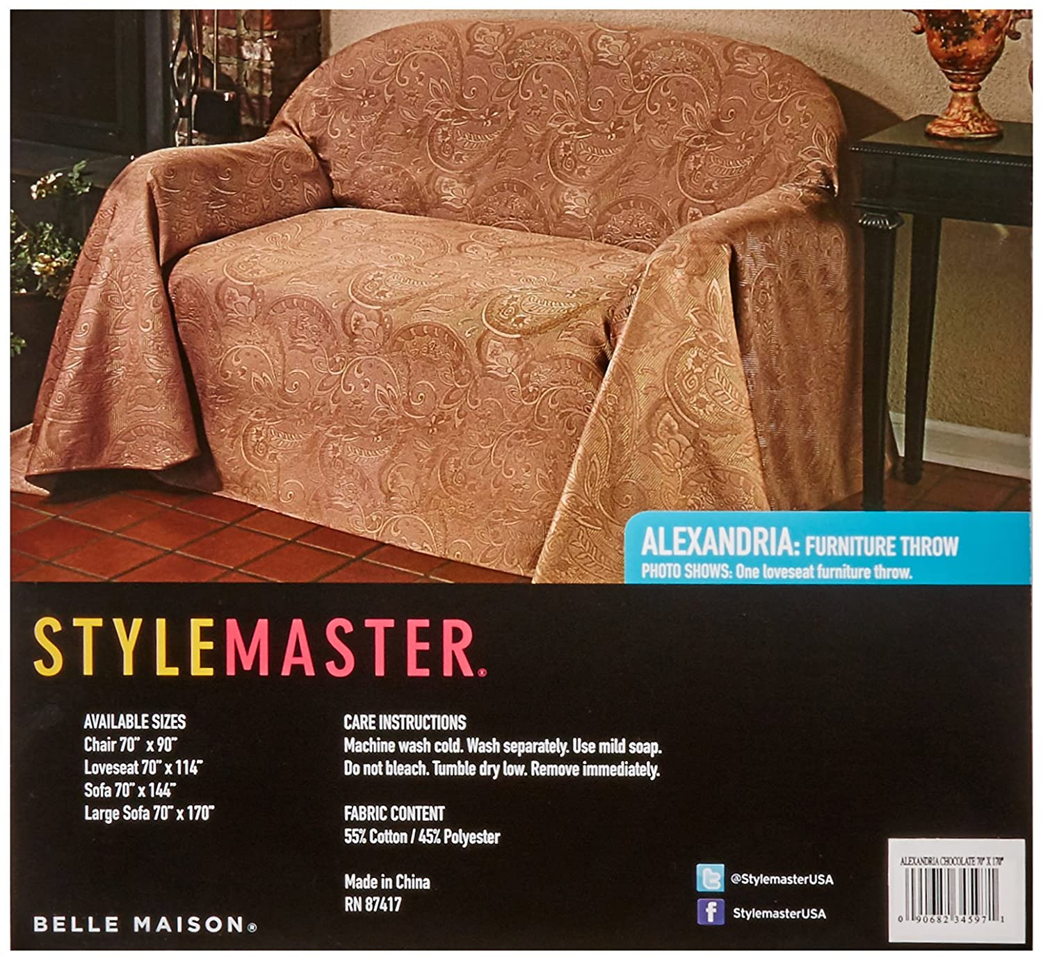 Amazon Stylemaster Alexandria Matelasse Sofa Furniture