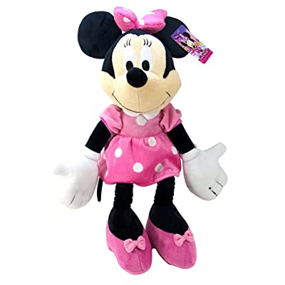 Jay Franco Plush Stuffed Pillow Buddy - Kids Super Soft Polyester Microfiber, 21 inch (Official Disney Product), E. Minnie Mouse: Home & Kitchen