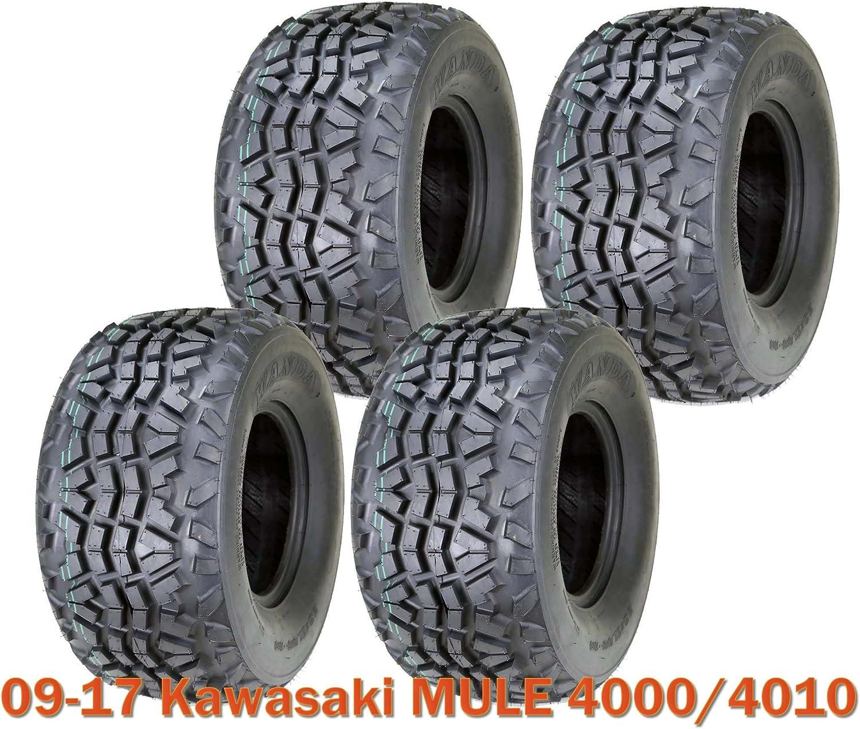 09-17 Kawasaki MULE 4000//4010 Set 2 Front or Rear Tires 23x11-10 6PR