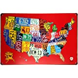 Amazoncom License Plate Map Of The United States Poster X - Us map of license plates