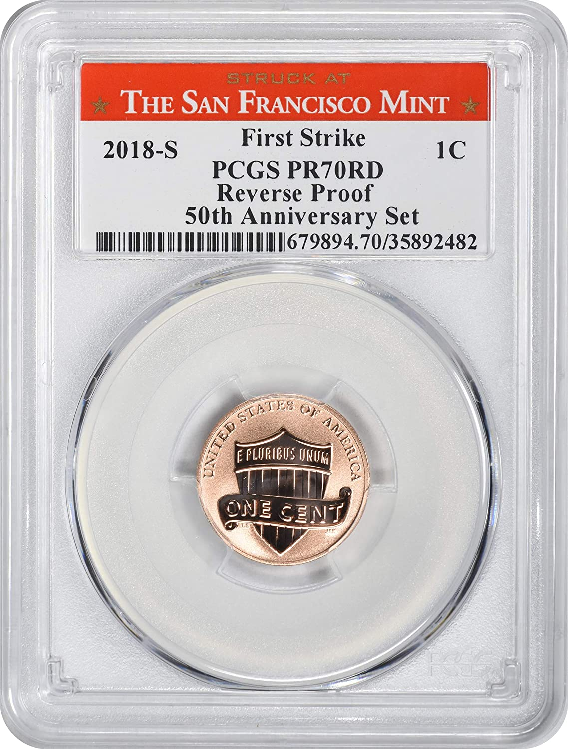 2019-W Reverse Proof Lincoln Cent PCGS PR70RD FIRST STRIKE
