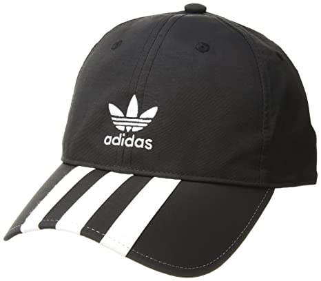 newest a07fe 05deb Amazon.com  adidas Men s Originals Relaxed Applique Strapback Cap,  black white, One Size  Sports   Outdoors