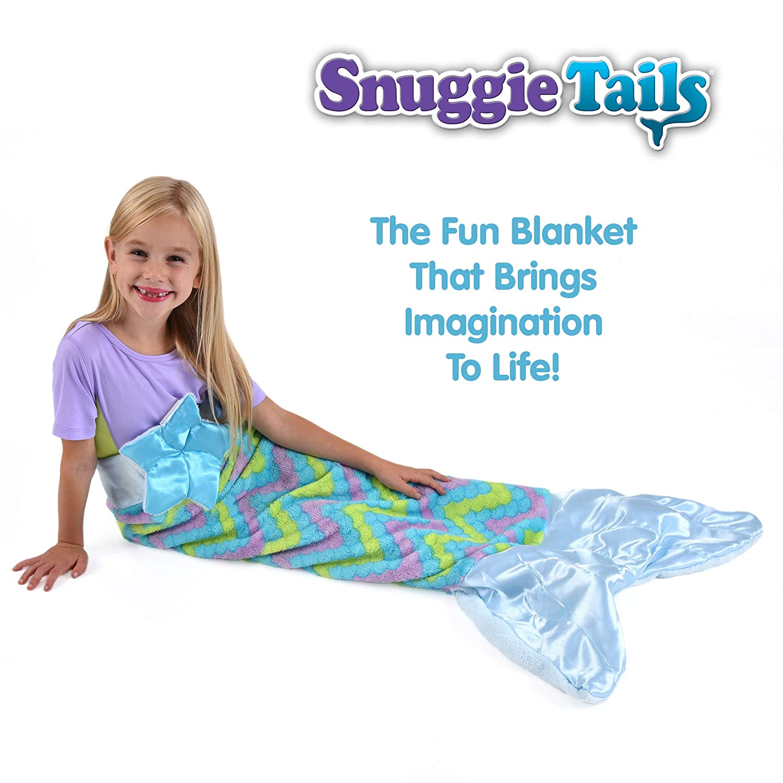 Amazon.com  Snuggie Tails Comfy Cozy Super Soft Warm Mermaid Blanket for  Kids (Blue) 368eb2dc1