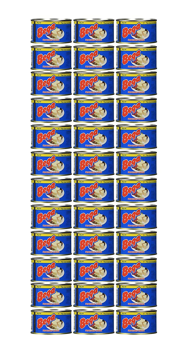 Bega Cheese A Real Canned Cheese From Australia- 100% Pure No Artificial Colors or Flavors-Great For Hurricane Preparedness Emergency Survival Long Term Storage Food Earthquake Kit-(36 Cans/Full Case)