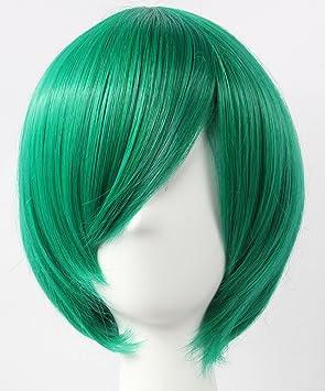 Cosplay peluca verde peluca corta verde peluca Forlán Corazo Hitman Reborn MIKUO Pelucas