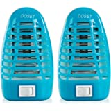 Doset Bug Zapper, Gnat Trap, Mosquito Killer Lamp, Electronic Insect Killer, Mosquito Trap, Eliminates Most Flying Pests, Killing Mosquitoes Night Lamp 2Pack (Blue)