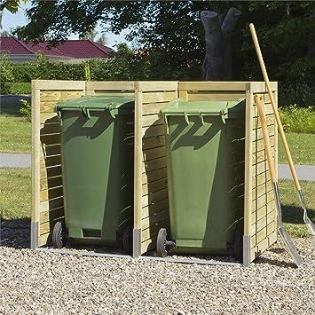 Mülltonnenverkleidung / Sichtschutz für Mülltonnen (2 Mülltonnen ...