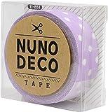 KAWAGUCHI(カワグチ) NUNO DECO TAPE ヌノデコテープ 1.5cm幅 1.2m巻 ふじいろ水玉 11-851