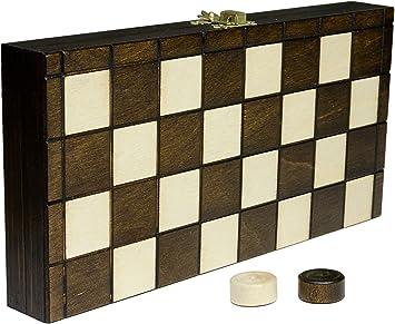 Wooden Magic Damas Damas - 25cm/9,9 en Artesanal Madera Juego de Mesa: Amazon.es: Juguetes y juegos