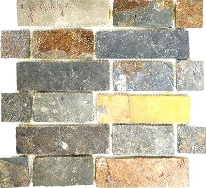 Mosaico della rete tessere di mosaico Brick marrone/ruggine ...