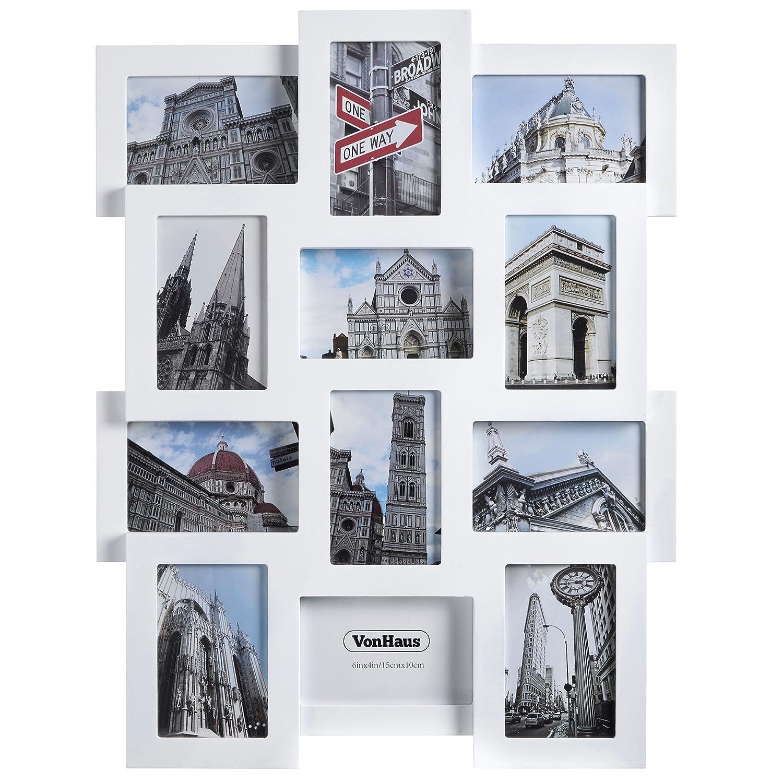 Amazon.de: VonHaus Apertur Fotorahmen für 12 Fotos 6\
