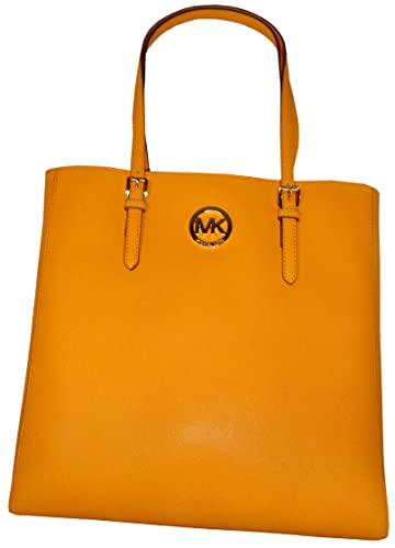 03e95413c8cf Michael Kors Jet Set Travel Large North South Tote - Saffiano Leather in  Vintage Yellow  Handbags  Amazon.com