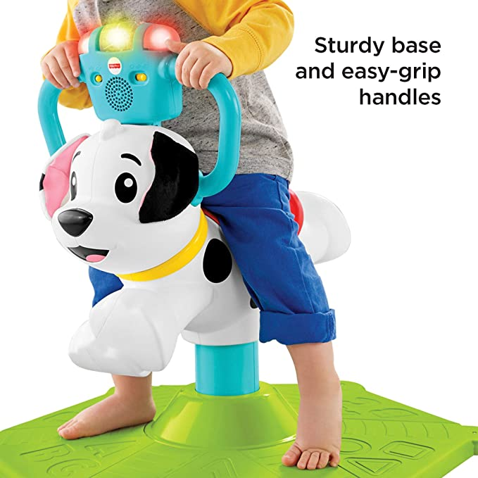 Fisher-Price Bounce and Spin Puppy, Juguete Musical para Montar ...