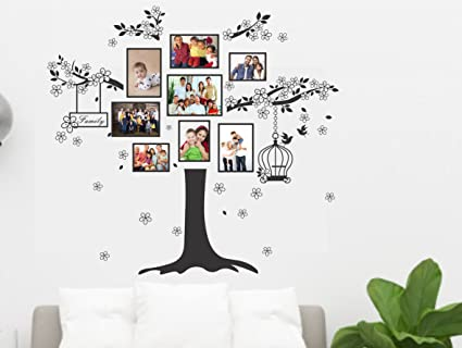 8232d3051 Buy Happy Walls Collections Tree with Photo Frame Wall Sticker Online at  Low Prices in India - Amazon.in