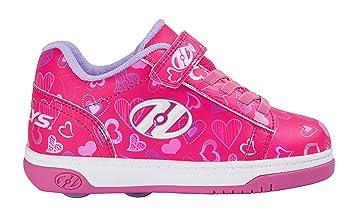 Heelys X2 Dual Up - Zapatos, color rosa/blanco/corazón: Amazon.es: Deportes y aire libre