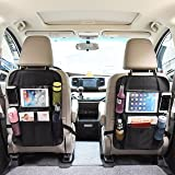 OMORC Car Seat Back Organizer with Tablet Holder Seat Back Protector Car Backseat Organizer for Baby Travel Accessories and Kids Toy Storage(2 Pack)