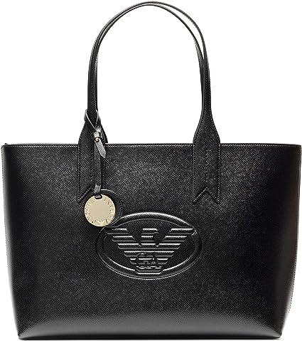 TALLA Talla única. Emporio Armani Logo Shopping Mujer Handbag Negro