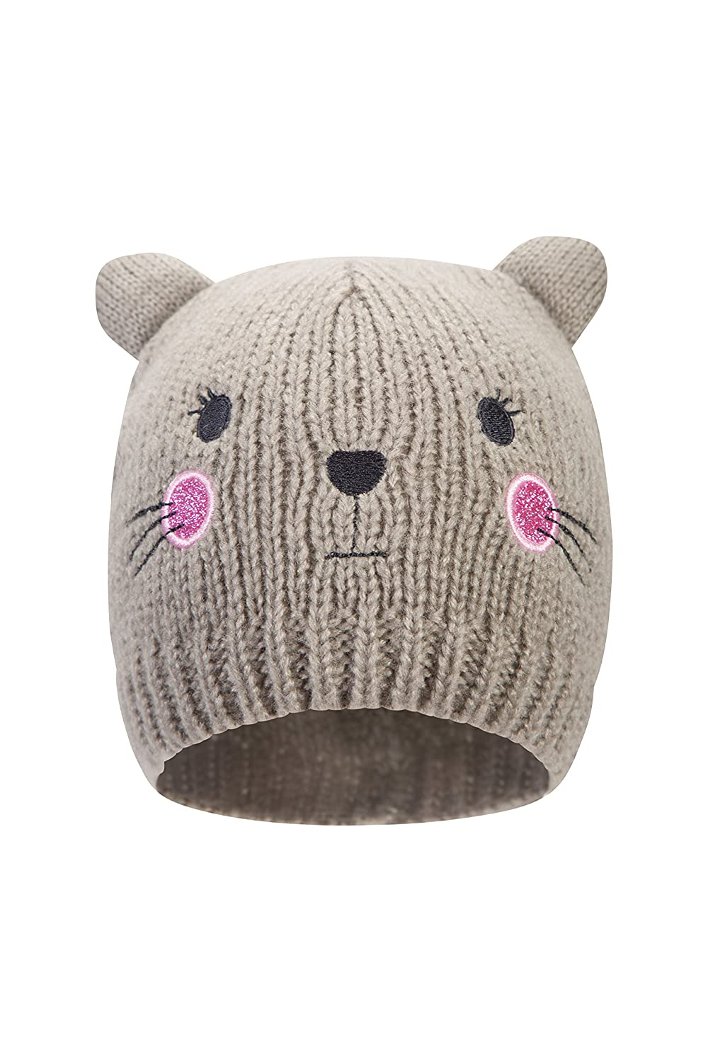 Mountain Warehouse Cat Kids Beanie - Warm Winter Cap Hat Grey 025546024001