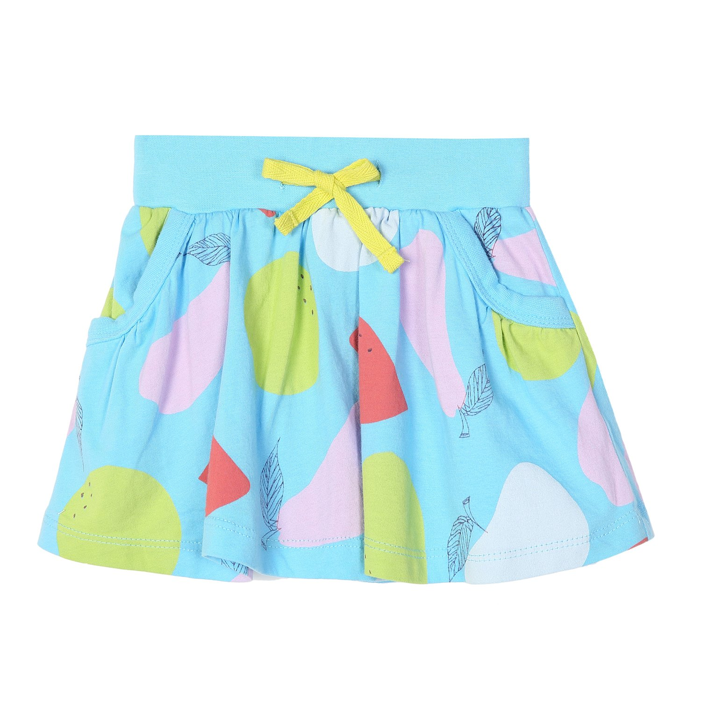 Girls Cute Summer Cotton Skirts Casual Cartoon Print Skorts Blue 3T by HowJoJo