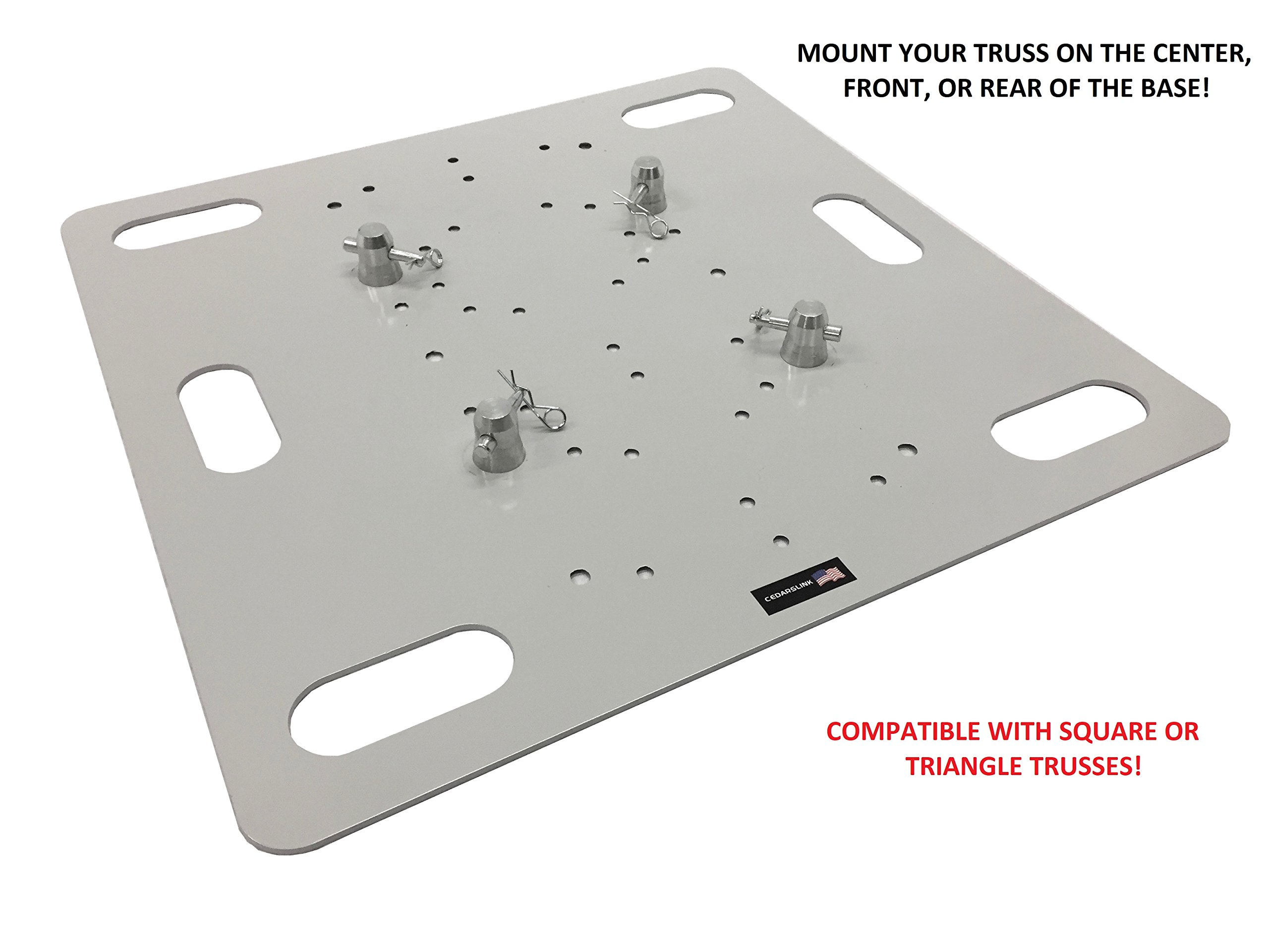 26''X26'' Base Plate For Square Aluminum Trussing /Triangle Fits F34 Global Truss