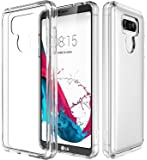 E LV LG G6 Case Cover, Clear Minimal Hybrid Fortified PC Back TPU Bumper Impact Resistant/Shock Absorption Clear Case Cover for LG G6 Case - Smoke.