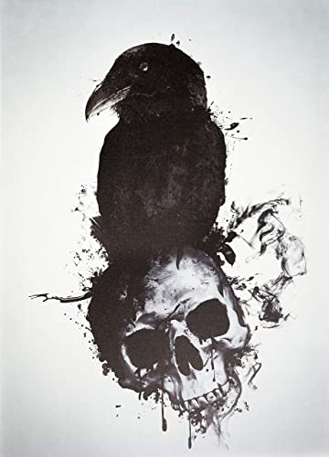 Cortesi Home Raven and Skull Wall Art