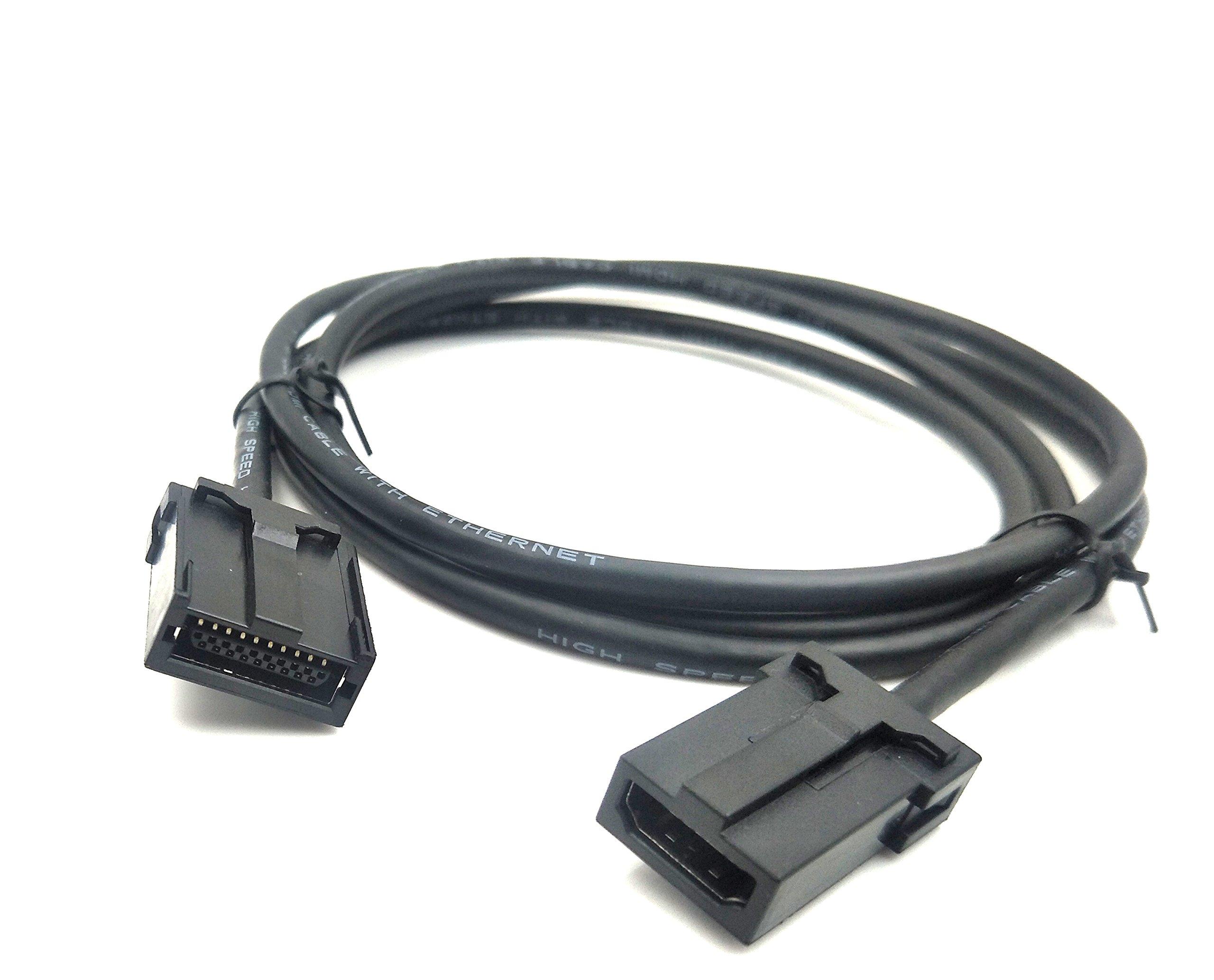 Exuun 1080P HDMI E Type to HDMI V1.4 A Cable, HDMI E Type to HDMI A Female Car HD AV Converter Extension Cable for Car Automotive Multimedia 5 feet/1.5m