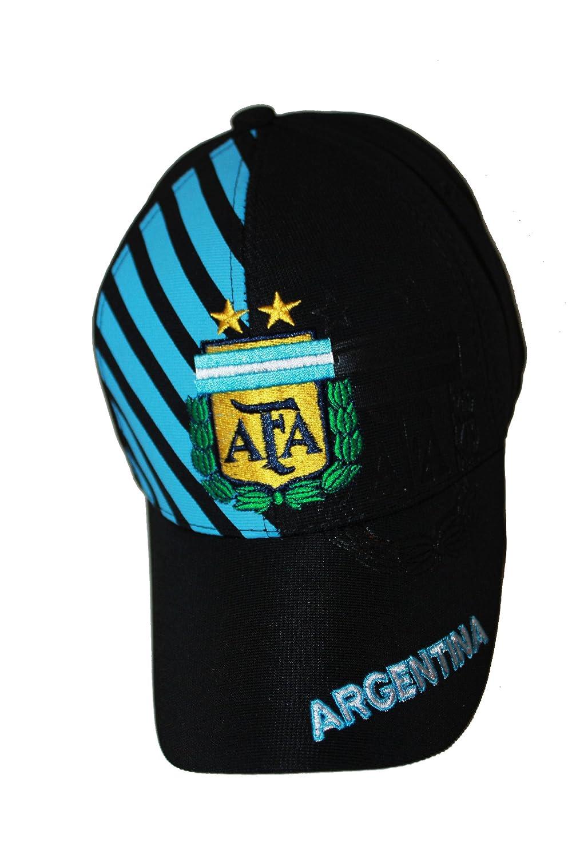 Amazon.com   Argentina Black With Blue Stripes .. AFA Logo FIFA Soccer  World Cup .. FlexFit Hat Cap .. .. New   Sports   Outdoors b0dd9f46c8e