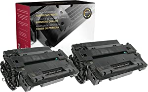 Inksters Remanufactured Toner Cartridge Replacement for HP 55A CE255A for Laserjet Pro MFP M521DN M521DW P3010 P3011 P3015 P3016 (Black) - 2 Pack