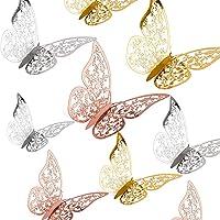 AIEX 36 St 3D Vlinders Ornamenten Levendig Verwijderbare Stickers Met 3 Verschillende Maten, Voor Muurstickers…