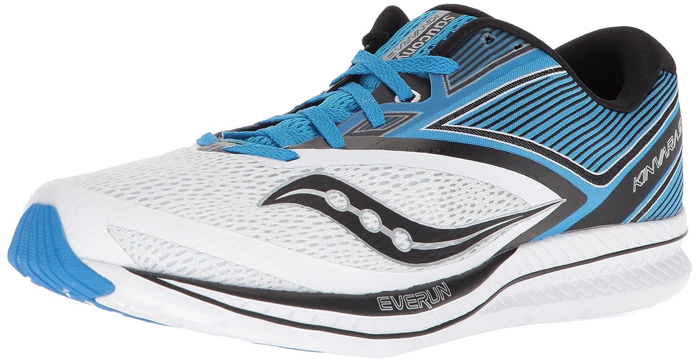 a7d5b63f Saucony Men's Kinvara 9 Running Shoe, White/Blue, 11.5 Medium US ...