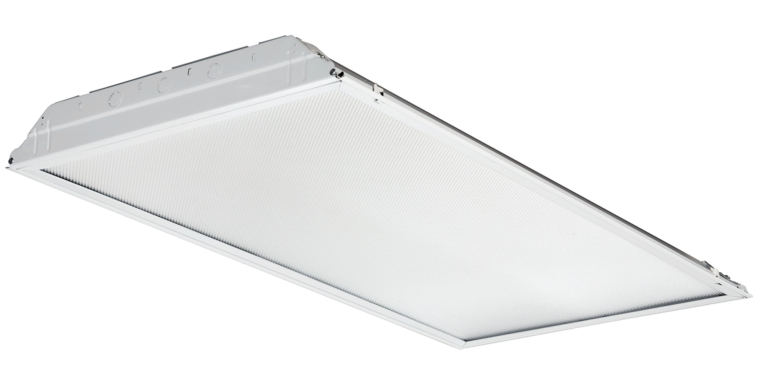Lithonia Lighting 2GTL 4 48L EZ1 LP835 2-Foot White LED Lensed Troffer with eldoLED Driver, 3500K, 4800 Lumens, 2-Foot by 4-Foot