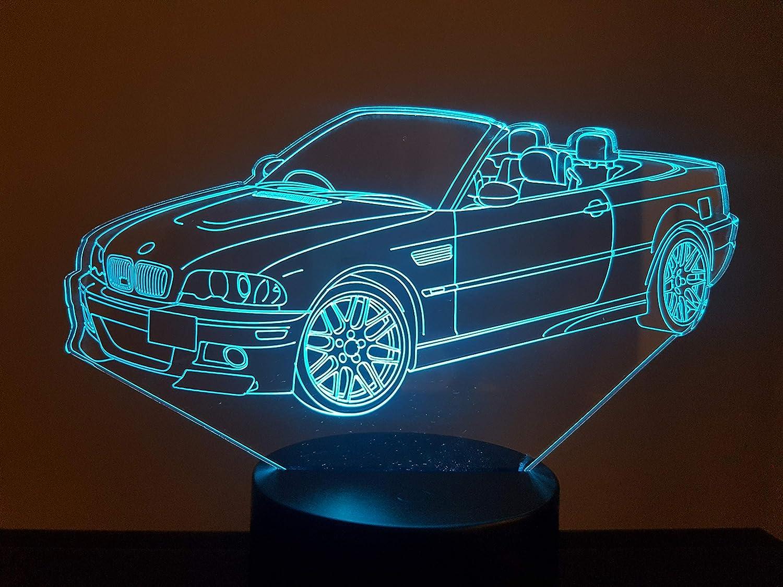 BMW M3 Cabriolet, lampe 3D à LED lampe 3D à LED