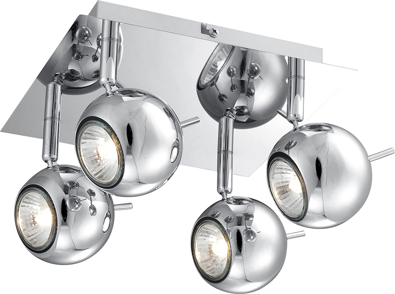 Spots schwenkbar LED Deckenstrahler OBERON 2 flammig Deckenlampe Chrom