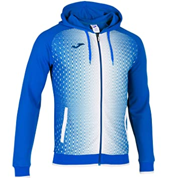 Joma Con Capucha Supernova, Chaqueta, Royal-Blanco: Amazon ...