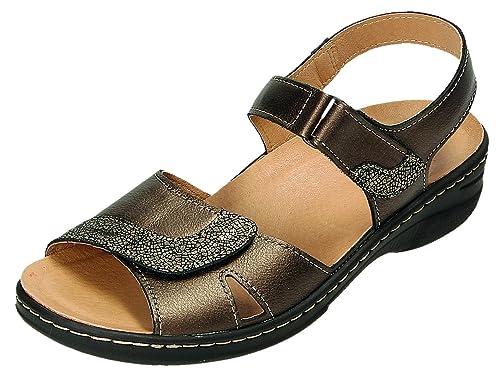 c80c29e281 Doccomfort - Sandalias de Vestir Para Mujer Marrón Bronce