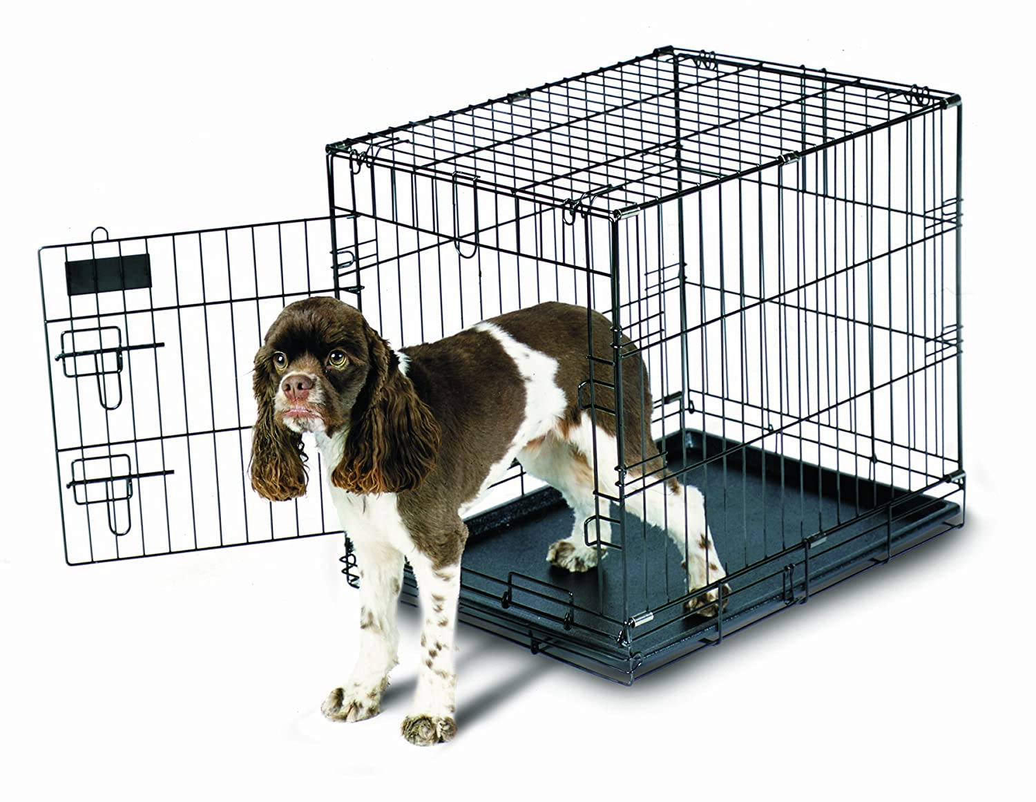 amazon com aspen pet home training wire crate black 24x18x21