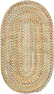 product image for Capel Rugs Ocracoke Oval Braided Area Rug, 8' x 11', Amber