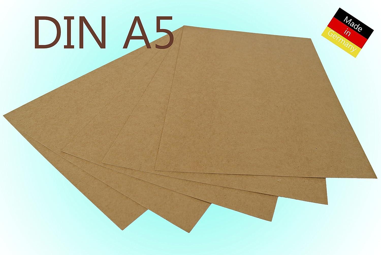 100 Blatt 300g//m/² Kraftpapier Kraftkarton DIN A5 225 /& 300g//m/² Bastelkarton braun Hochzeit