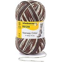 REGIA 6-fädig Color 9801285 Handstrickgarn, Sockengarn, 150g Knäuel