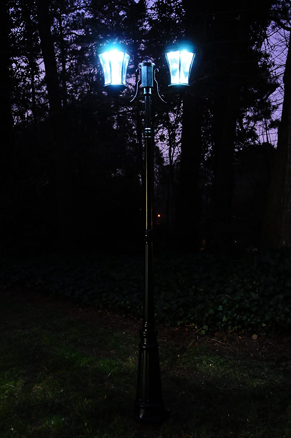 Victorian Solar Light Reviews Part - 31: Amazon.com : Gama Sonic Victorian Solar Lamp Post And Double Lamp LED Light  Fixture, 90-Inch Height, Black Finish #GS-94D-B : Outdoor Post Lights :  Garden U0026 ...