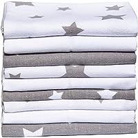 Clevere Kids absorberende spuwdoeken | pack van 9 | luiers flanel met sterren | 38x38 | babydoeken | OEKO-TEX…