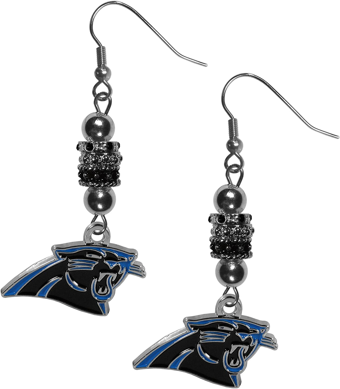 NFL Siskiyou Sports Womens Carolina Panthers Dangle Earrings One Size Team Color