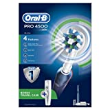 Oral-B Pro 4500 CrossAction Electric Rechargeable Toothbrush with Travel Case Powered by Braun