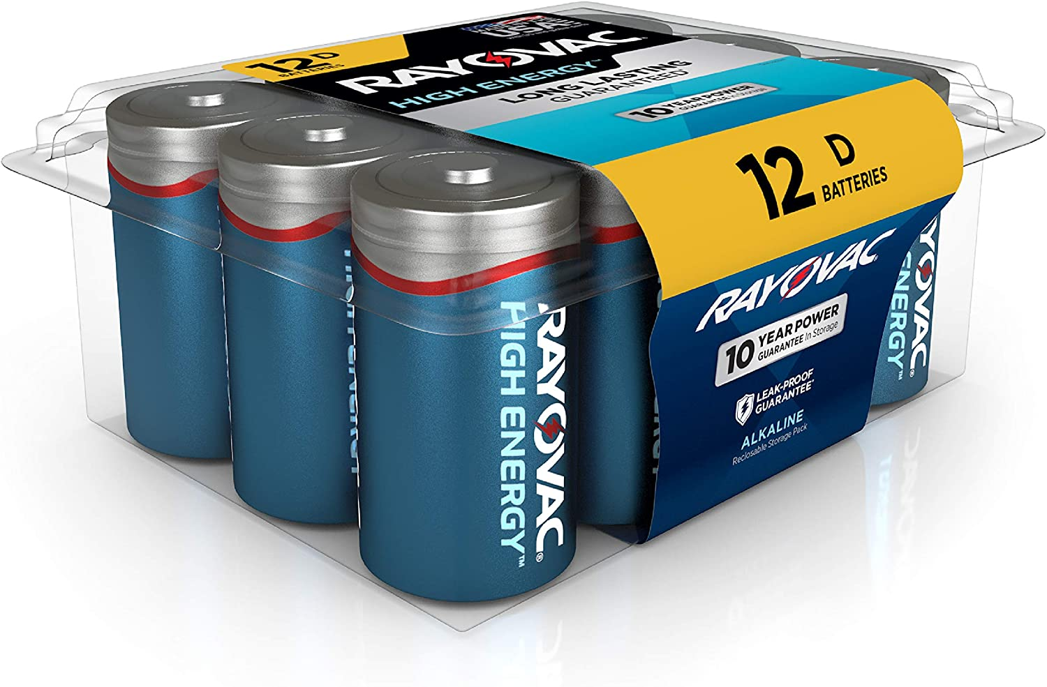 Rayovac D Batteries, Alkaline D Cell Batteries (12 Battery Count): Electronics