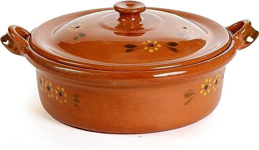 Amazon.com: Mexicano plana arcilla Cazuela – 3 Qt: Kitchen ...