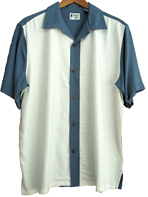 1950s Mens Shirts | Retro Bowling Shirts, Vintage Hawaiian Shirts  Silk Camp Shirt Thin Panel Luxury Retro 50s Casual $29.99 AT vintagedancer.com