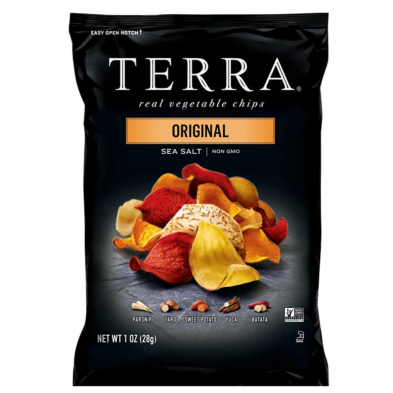 4f25db27 Amazon.com : TERRA Original Chips with Sea Salt, 1 oz. (Pack of 24) :  Vegetable Chips And Crisps : Grocery & Gourmet Food