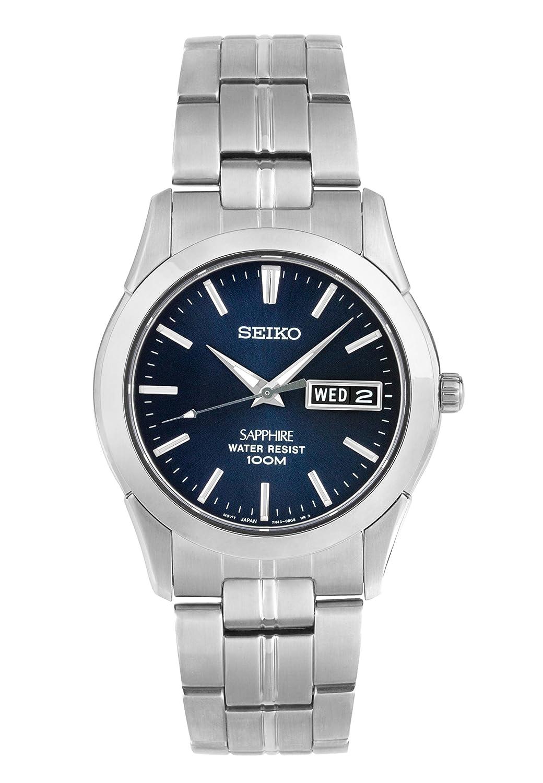 Seiko Reloj Analógico de Cuarzo para Hombre con Correa de Acero Inoxidable – SGG717P1