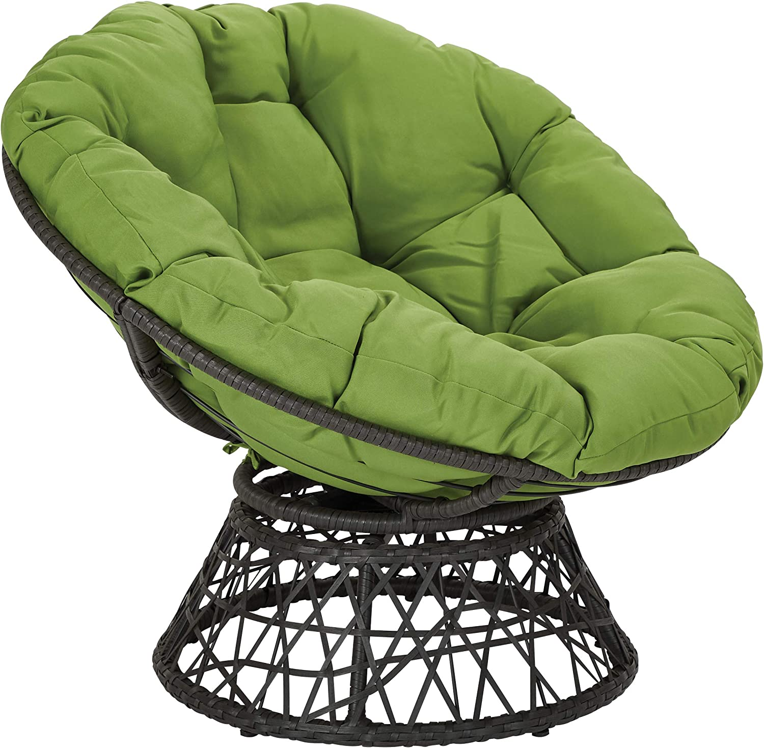 OSP Designs BF25292-6 Papasan Chair, Green